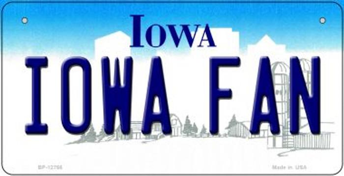 Iowa Fan Novelty Metal Bicycle Plate BP-12766