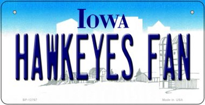 Hawkeyes Fan Novelty Metal Bicycle Plate BP-12767