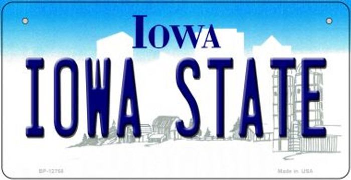 Iowa State Novelty Metal Bicycle Plate BP-12768