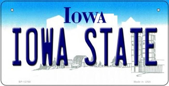 Iowa State Novelty Metal Bicycle Plate BP-12768