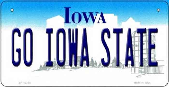 Go Iowa State Novelty Metal Bicycle Plate BP-12769