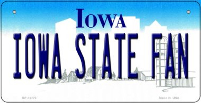 Iowa State Fan Novelty Metal Bicycle Plate BP-12770