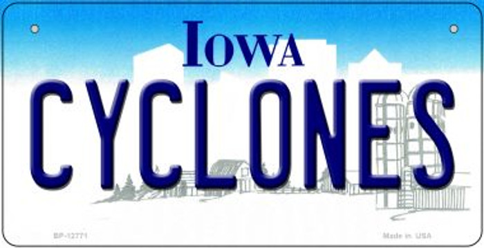 Cyclones Novelty Metal Bicycle Plate BP-12771