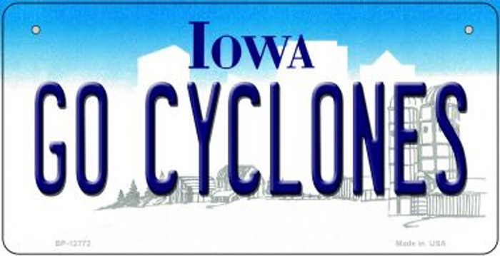 Go Cyclones Novelty Metal Bicycle Plate BP-12772