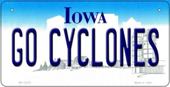 Go Cyclones Novelty Metal Bicycle Plate BP-12772