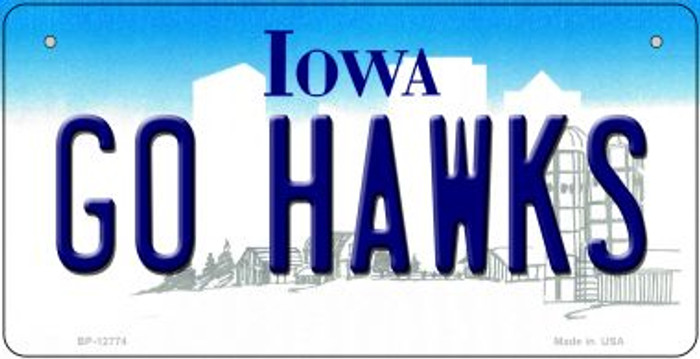 Go Hawks Novelty Metal Bicycle Plate BP-12774