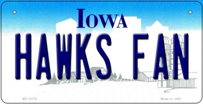 Hawks Fan Novelty Metal Bicycle Plate BP-12775