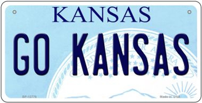 Go Kansas Novelty Metal Bicycle Plate BP-12776