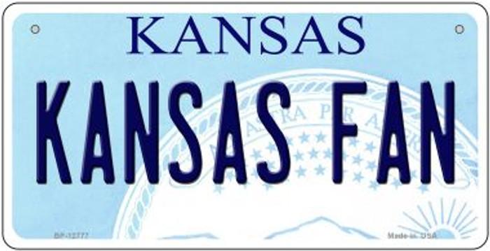 Kansas Fan Novelty Metal Bicycle Plate BP-12777