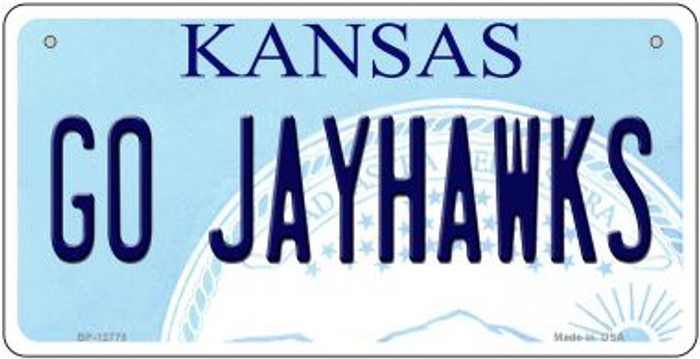 Go Jayhawks Novelty Metal Bicycle Plate BP-12778