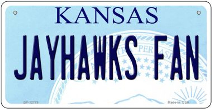 Jayhawks Fan Novelty Metal Bicycle Plate BP-12779