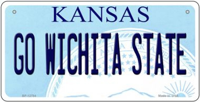 Go Wichita State Novelty Metal Bicycle Plate BP-12784