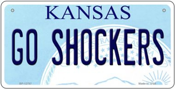 Go Shockers Novelty Metal Bicycle Plate BP-12787