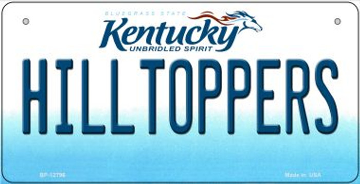 Hilltoppers Novelty Metal Bicycle Plate BP-12796