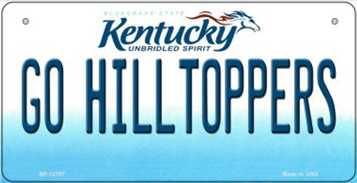 Go Hilltoppers Novelty Metal Bicycle Plate BP-12797
