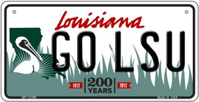 Go LSU Novelty Metal Bicycle Plate BP-12799