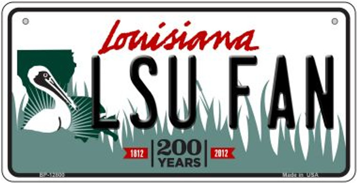 LSU Fan Novelty Metal Bicycle Plate BP-12800