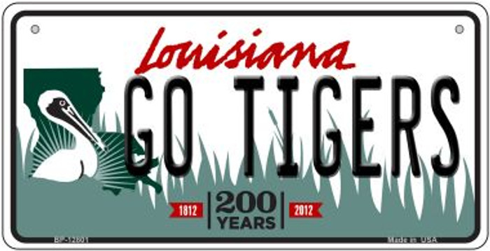 Go Tigers Novelty Metal Bicycle Plate BP-12801