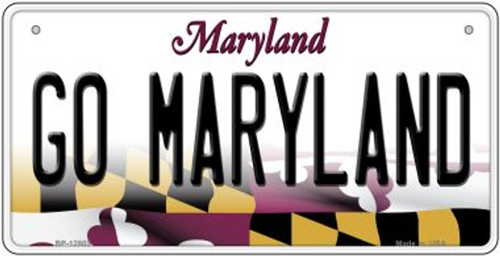 Go Maryland Novelty Metal Bicycle Plate BP-12803