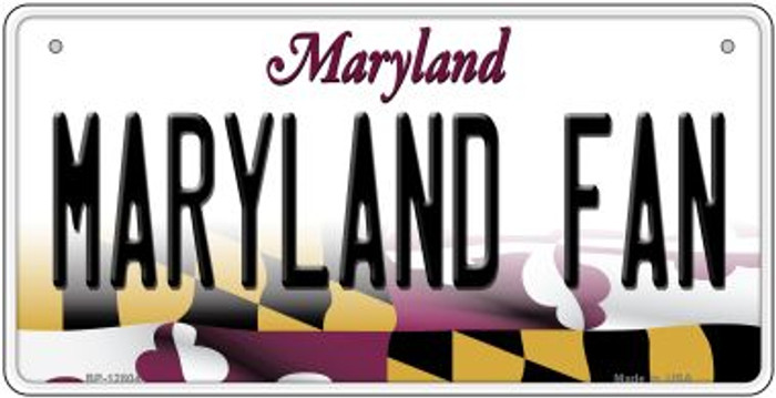Maryland Fan Novelty Metal Bicycle Plate BP-12804