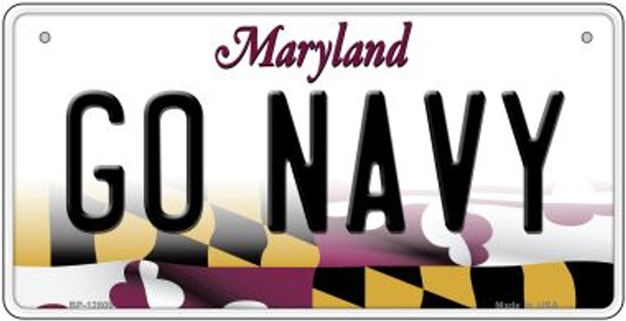 Go Navy Novelty Metal Bicycle Plate BP-12809