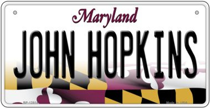 Johns Hopkins Novelty Metal Bicycle Plate BP-12814