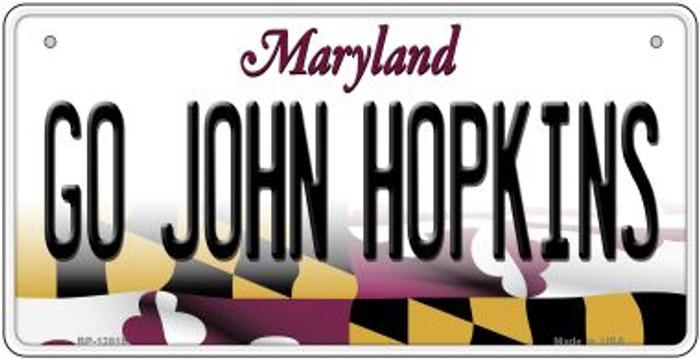 Go Hopkins Novelty Metal Bicycle Plate BP-12815