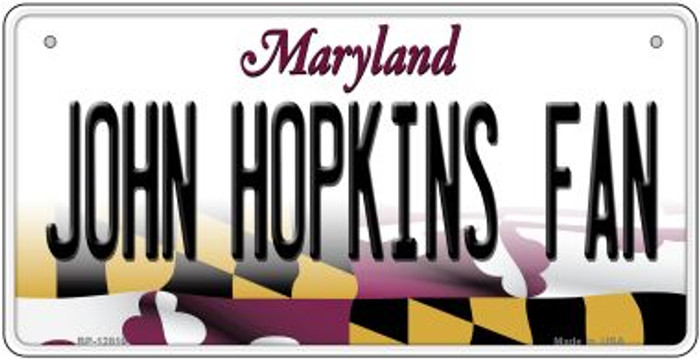 John Hopkins Fan Novelty Metal Bicycle Plate BP-12816