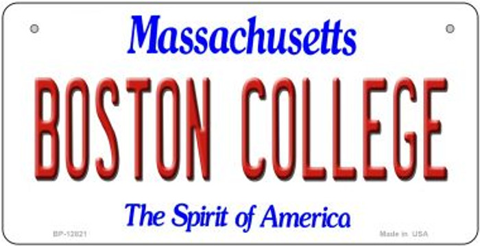 Boston College Novelty Metal Bicycle Plate BP-12821