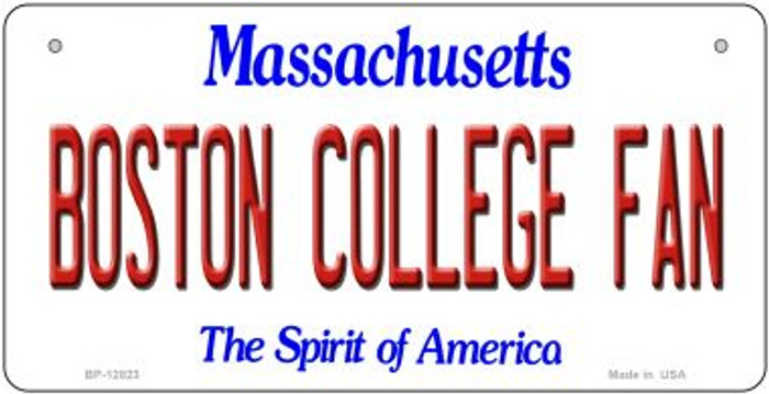 Boston College Fan Novelty Metal Bicycle Plate BP-12823