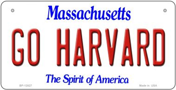 Go Harvard Novelty Metal Bicycle Plate BP-12827