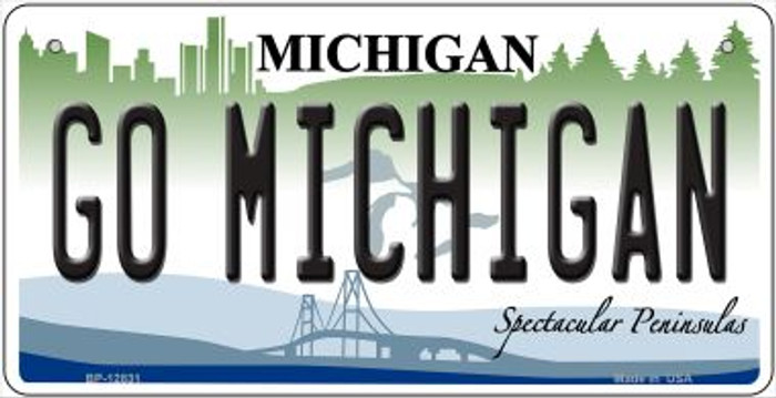 Go Michigan Novelty Metal Bicycle Plate BP-12831