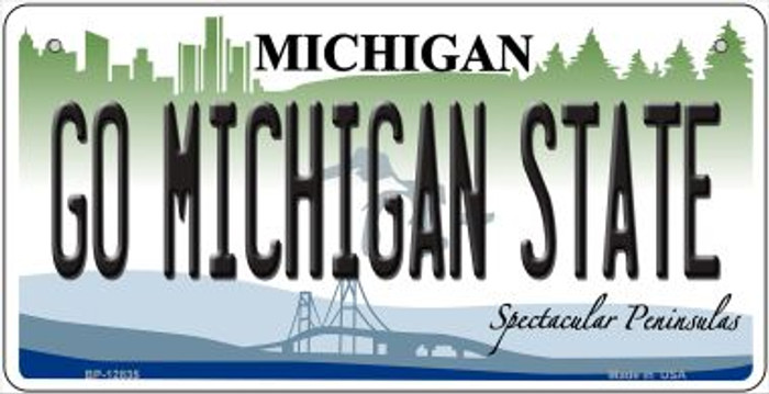 Go Michigan State Novelty Metal Bicycle Plate BP-12835