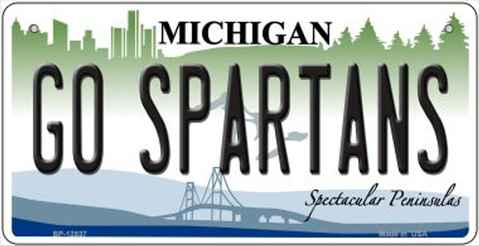 Go Spartans Novelty Metal Bicycle Plate BP-12837