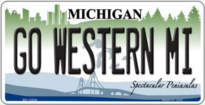 Go Western Michigan Novelty Metal Bicycle Plate BP-12840