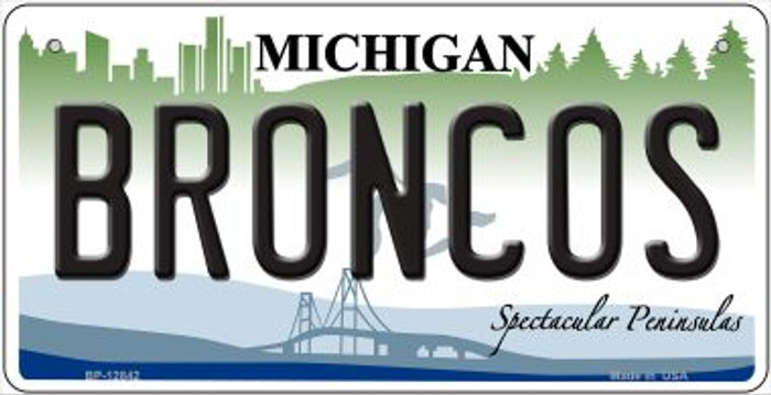 Broncos Novelty Metal Bicycle Plate BP-12842