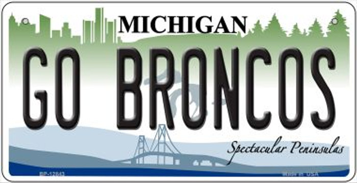 Go Broncos Novelty Metal Bicycle Plate BP-12843