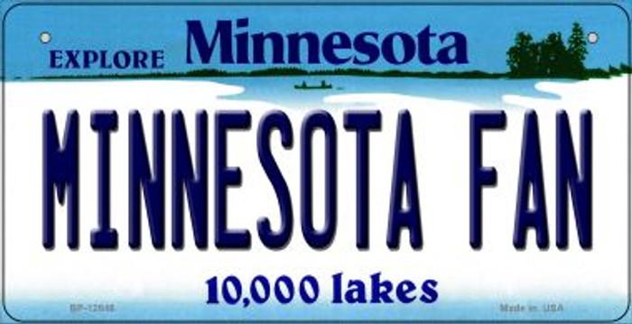 Minnesota Fan Novelty Metal Bicycle Plate BP-12846