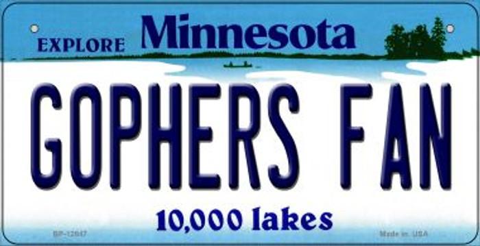 Gophers Fan Novelty Metal Bicycle Plate BP-12847