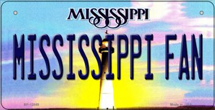 Mississippi Fan Novelty Metal Bicycle Plate BP-12849