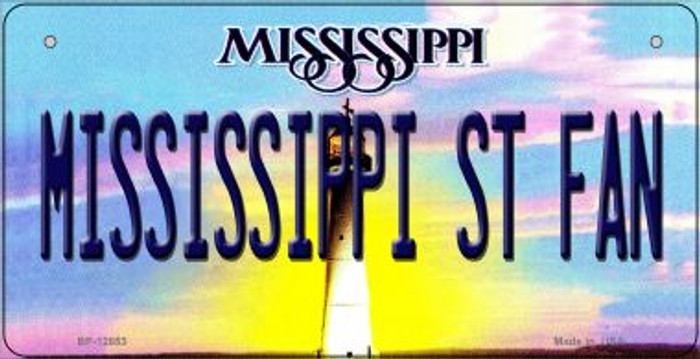 Mississippi State Fan Novelty Metal Bicycle Plate BP-12853