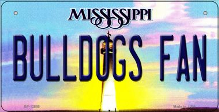 Bulldogs Fan Novelty Metal Bicycle Plate BP-12855