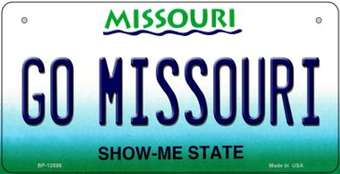Go Missouri Novelty Metal Bicycle Plate BP-12856