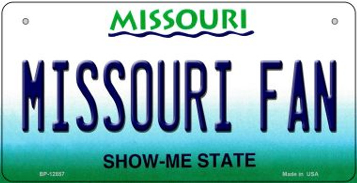Missouri Fan Novelty Metal Bicycle Plate BP-12857