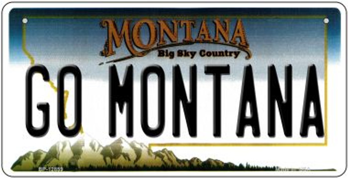 Go Montana Novelty Metal Bicycle Plate BP-12859