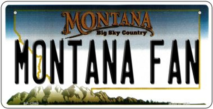 Montana Fan Novelty Metal Bicycle Plate BP-12860