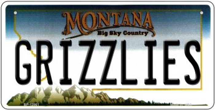 Grizzlies Novelty Metal Bicycle Plate BP-12861