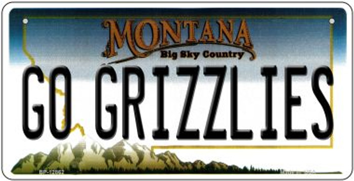Go Grizzlies Novelty Metal Bicycle Plate BP-12862