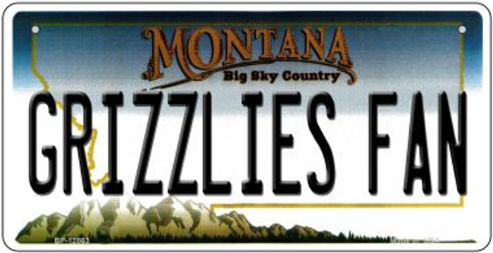 Grizzlies Fan Novelty Metal Bicycle Plate BP-12863