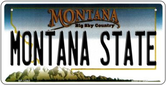 Montana State Novelty Metal Bicycle Plate BP-12864